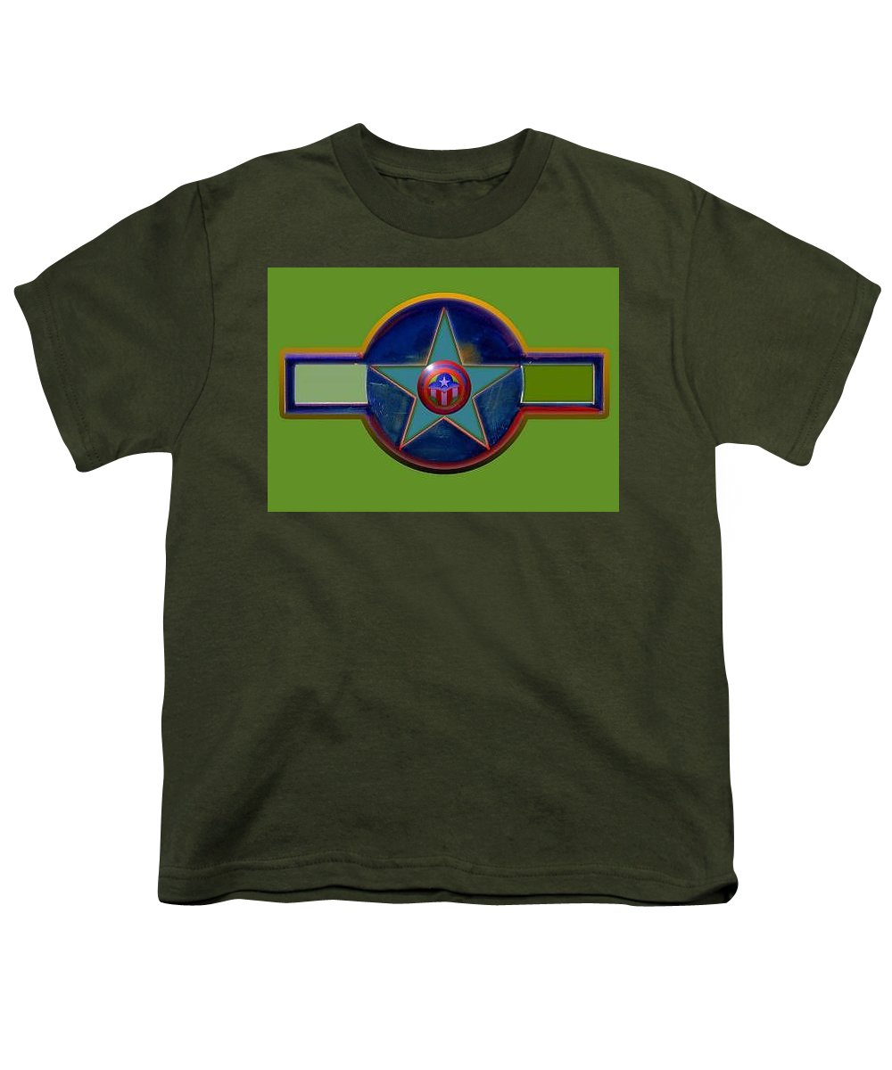 Usaaf Insignia Youth T-Shirt featuring the digital art Pax Americana Decal by Charles Stuart
