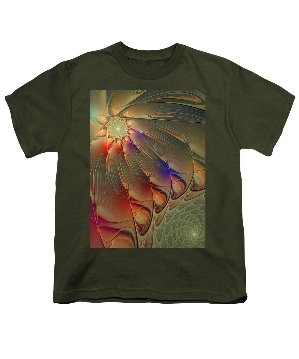 Digital Art Youth T-Shirt featuring the digital art Petalia by Amanda Moore