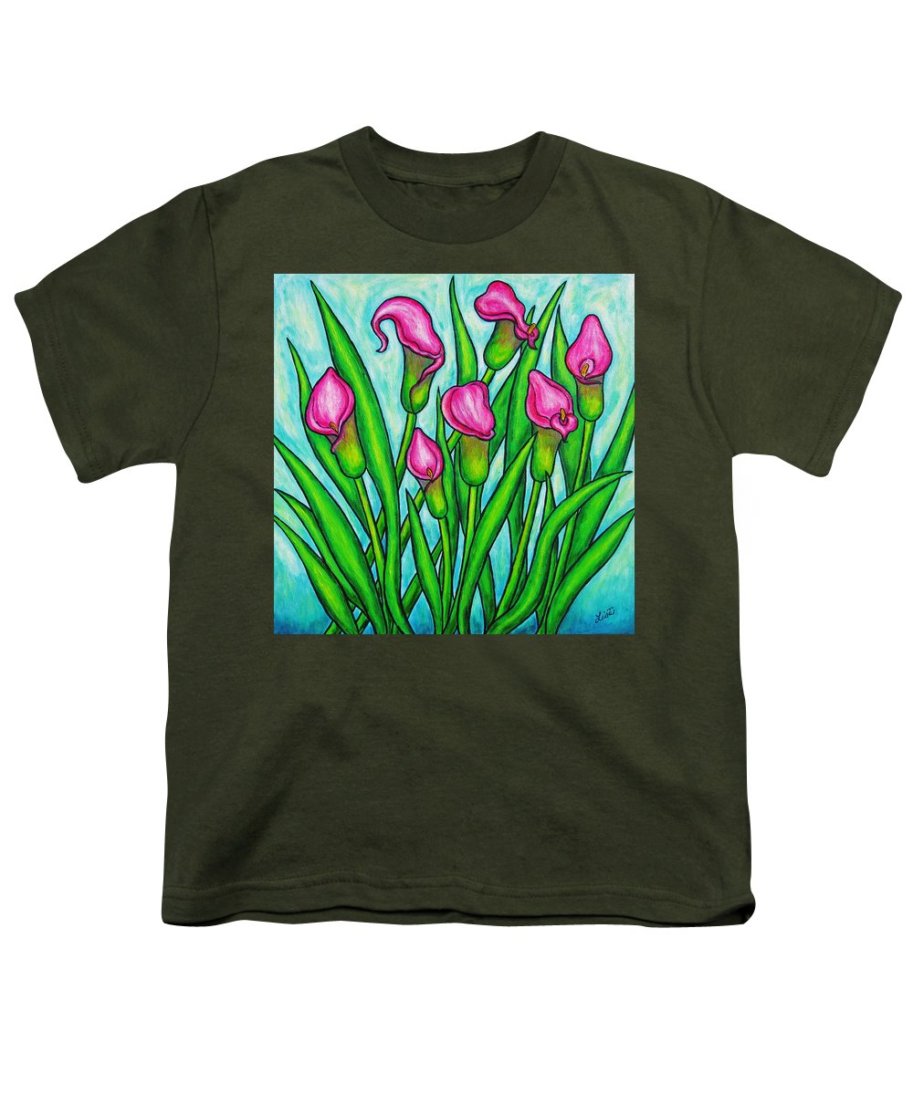 Lisa Lorenz Youth T-Shirt featuring the painting Pink Ladies by Lisa Lorenz