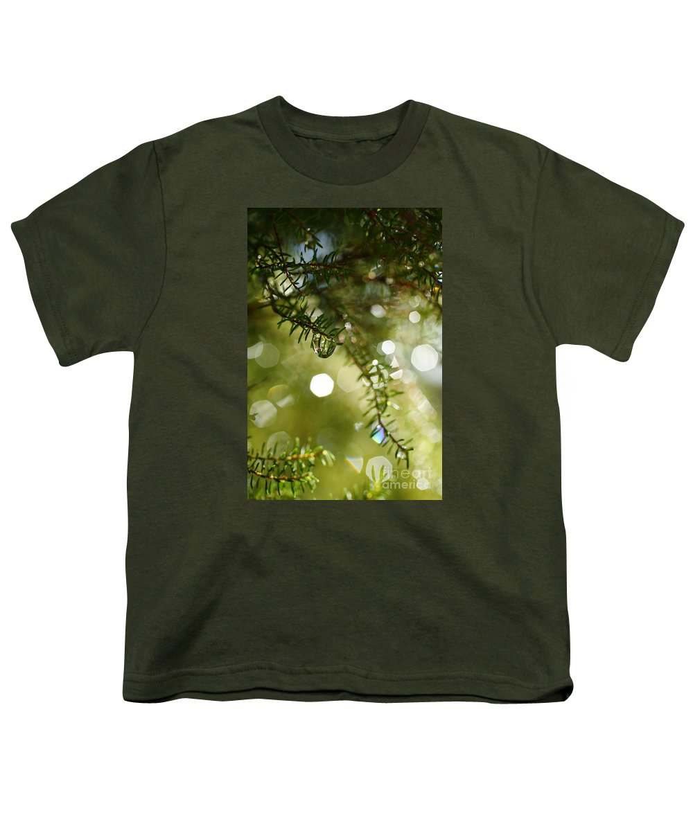 Dew Youth T-Shirt featuring the photograph Raindrops by Gaspar Avila