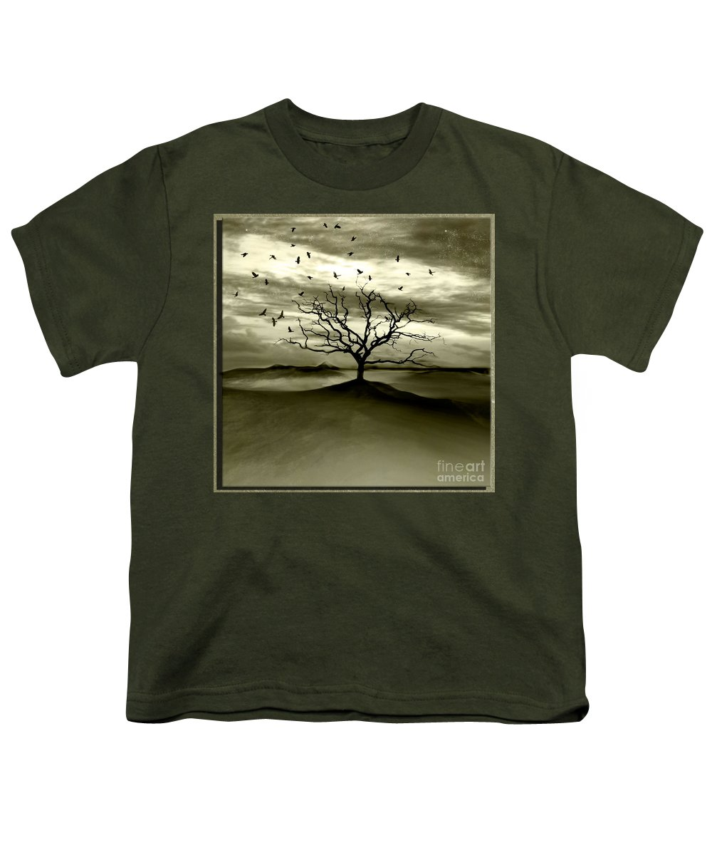 Landscape Youth T-Shirt featuring the photograph Raven Valley by Jacky Gerritsen