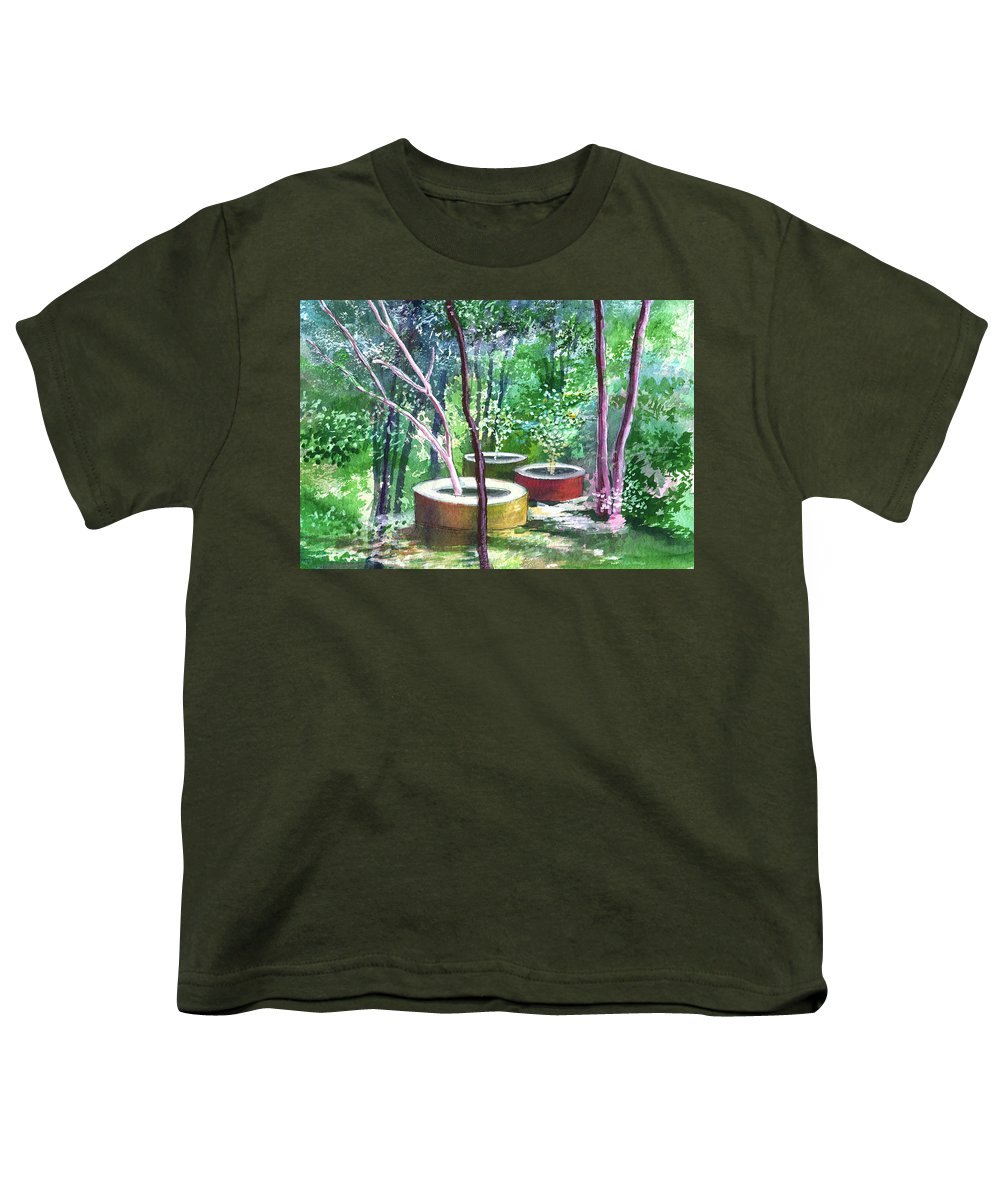 Opaque Landscape Youth T-Shirt featuring the painting Relax Here by Anil Nene