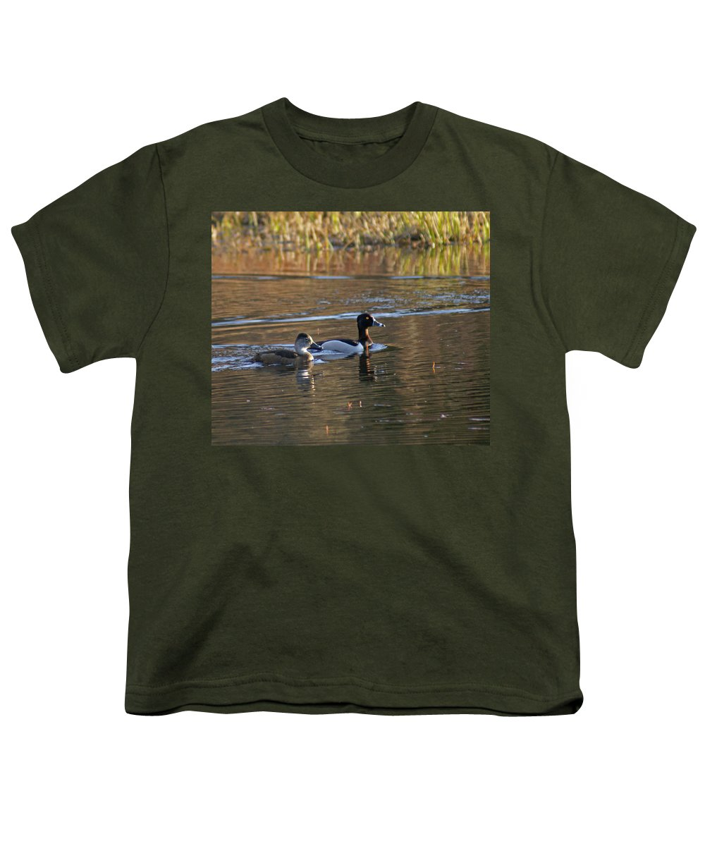 Duck Youth T-Shirt featuring the photograph Ring Necked Duck by Heather Coen