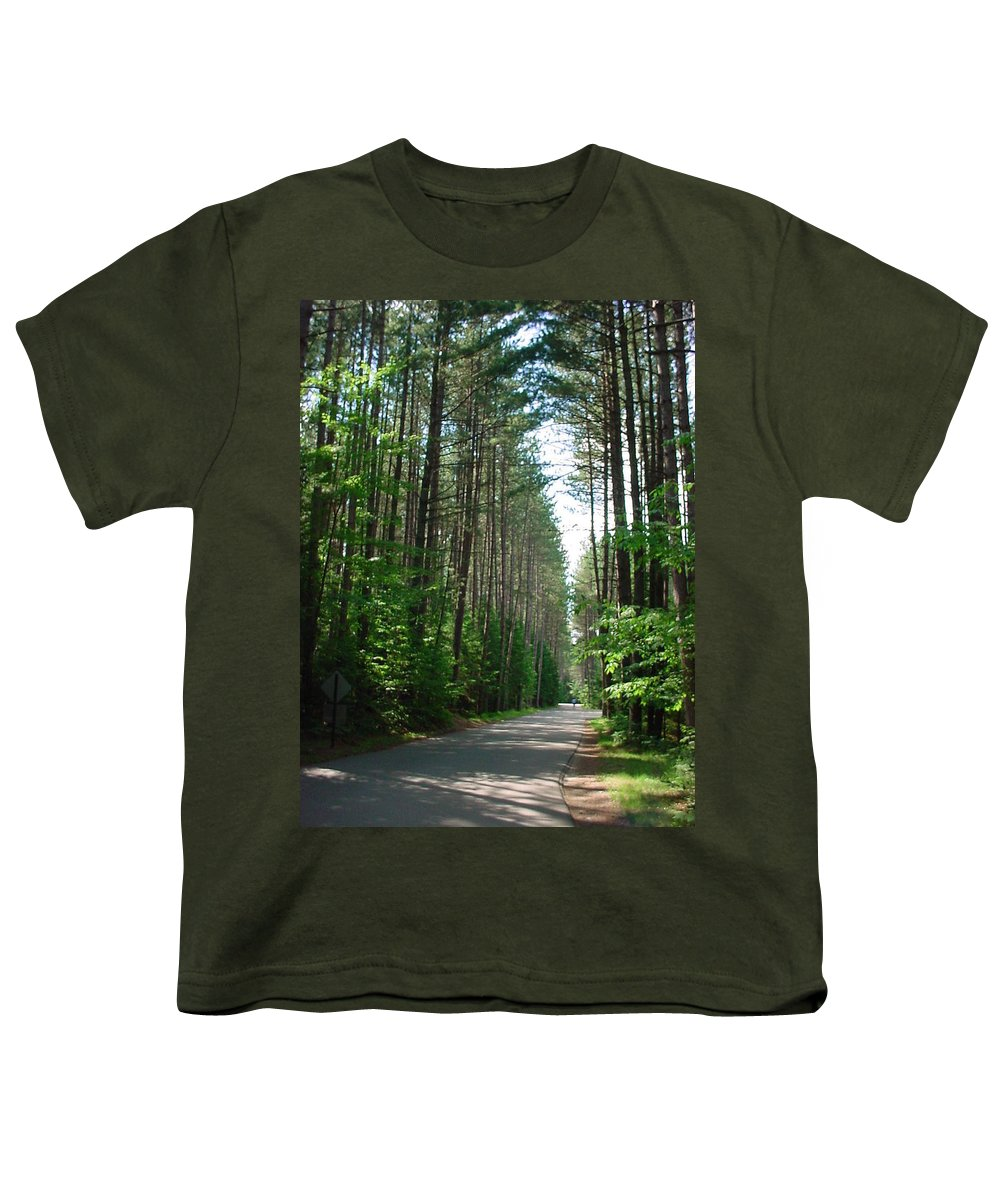 Fish Creek Youth T-Shirt featuring the photograph Roadway At Fish Creek by Jerrold Carton