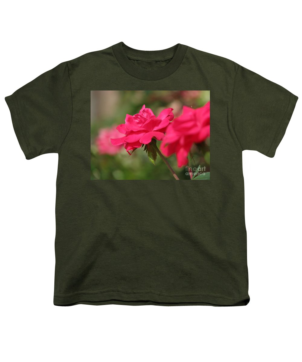 Rose Youth T-Shirt featuring the photograph Roses by Amanda Barcon