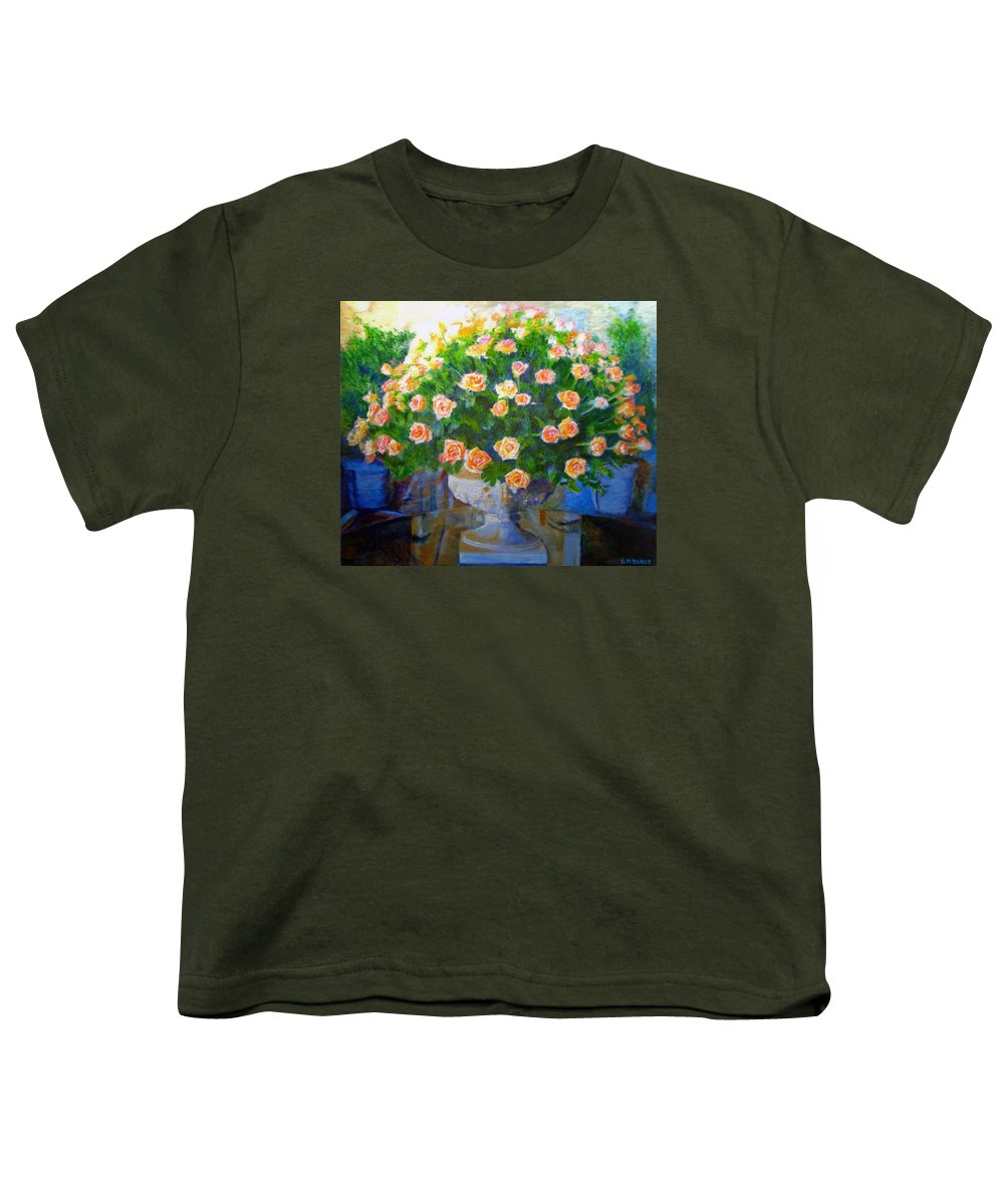 Rose Youth T-Shirt featuring the painting Roses At Table Bay by Michael Durst