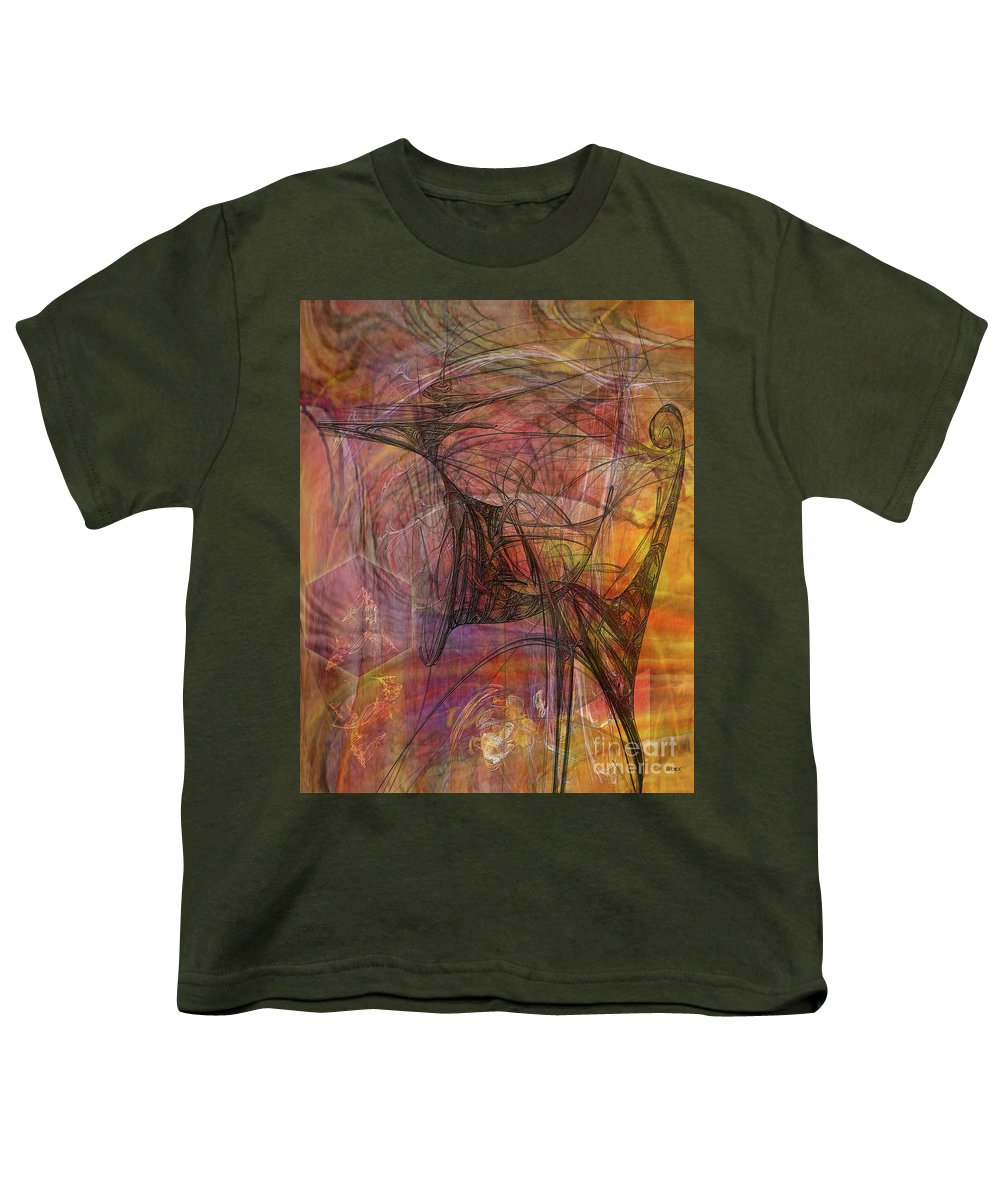 Shadow Dragon Youth T-Shirt featuring the digital art Shadow Dragon by John Beck