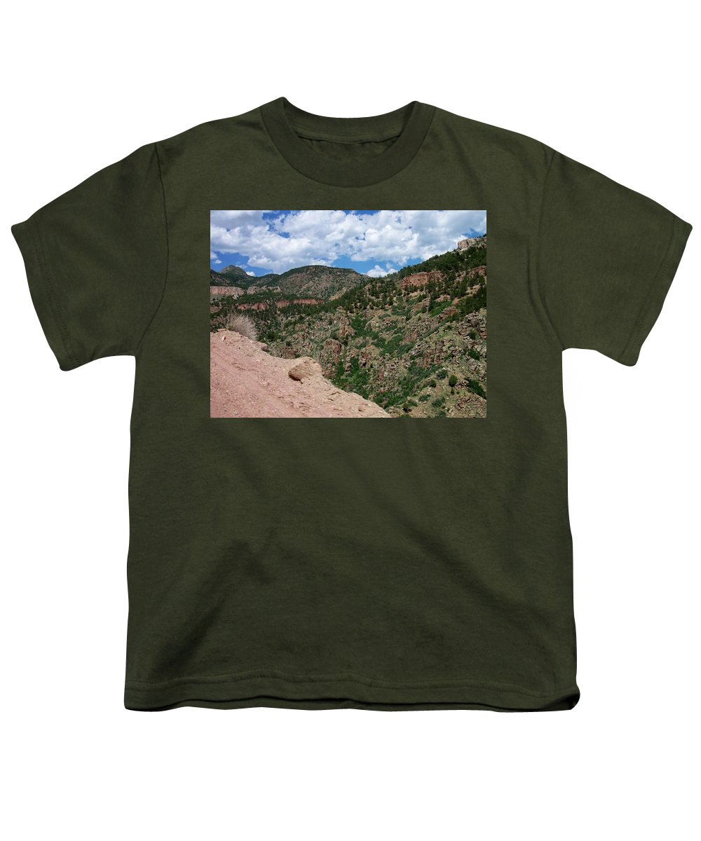 Shelf Road Youth T-Shirt featuring the photograph Shelf Road Drop Off by Anita Burgermeister