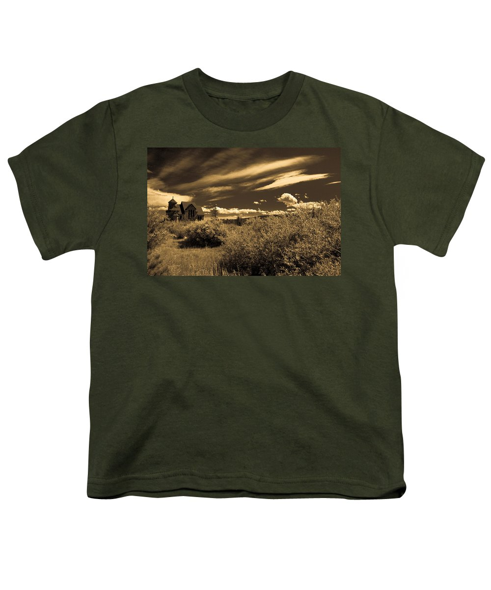 Church Youth T-Shirt featuring the photograph Small Town Church by Marilyn Hunt