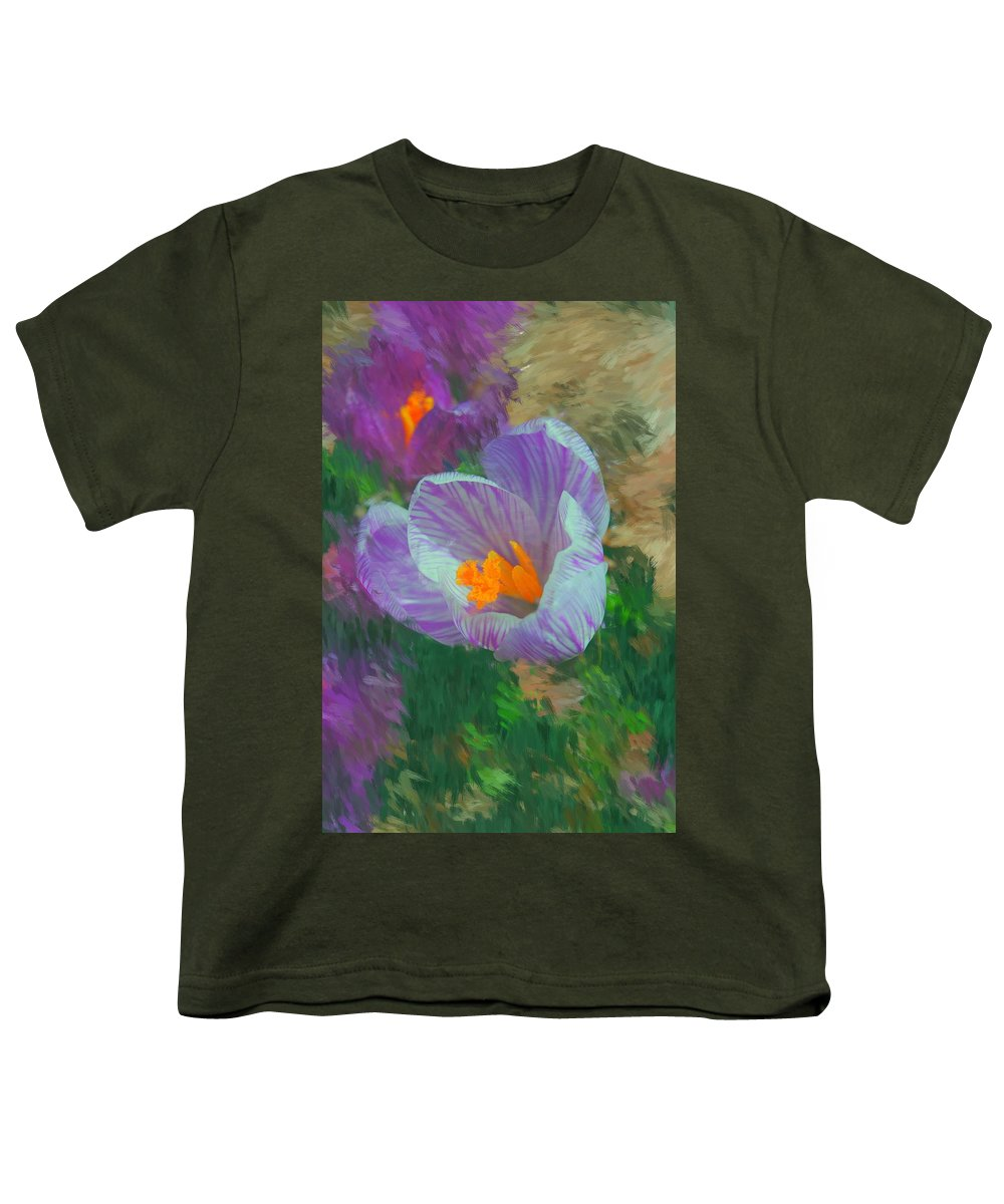 Digital Photography Youth T-Shirt featuring the digital art Spring Has Sprung by David Lane