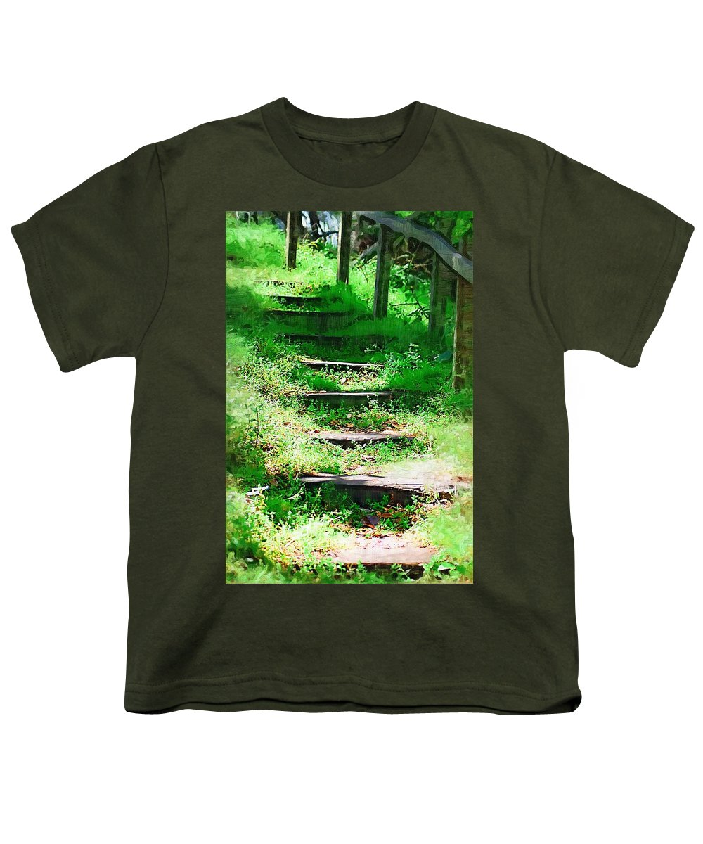 Stairs Youth T-Shirt featuring the photograph Stairway To Heaven by Donna Bentley