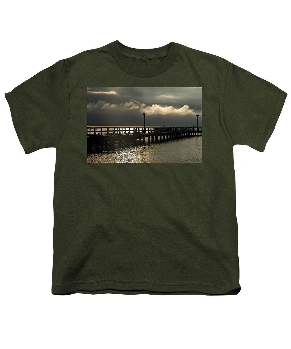 Clay Youth T-Shirt featuring the photograph Storms Brewin' by Clayton Bruster