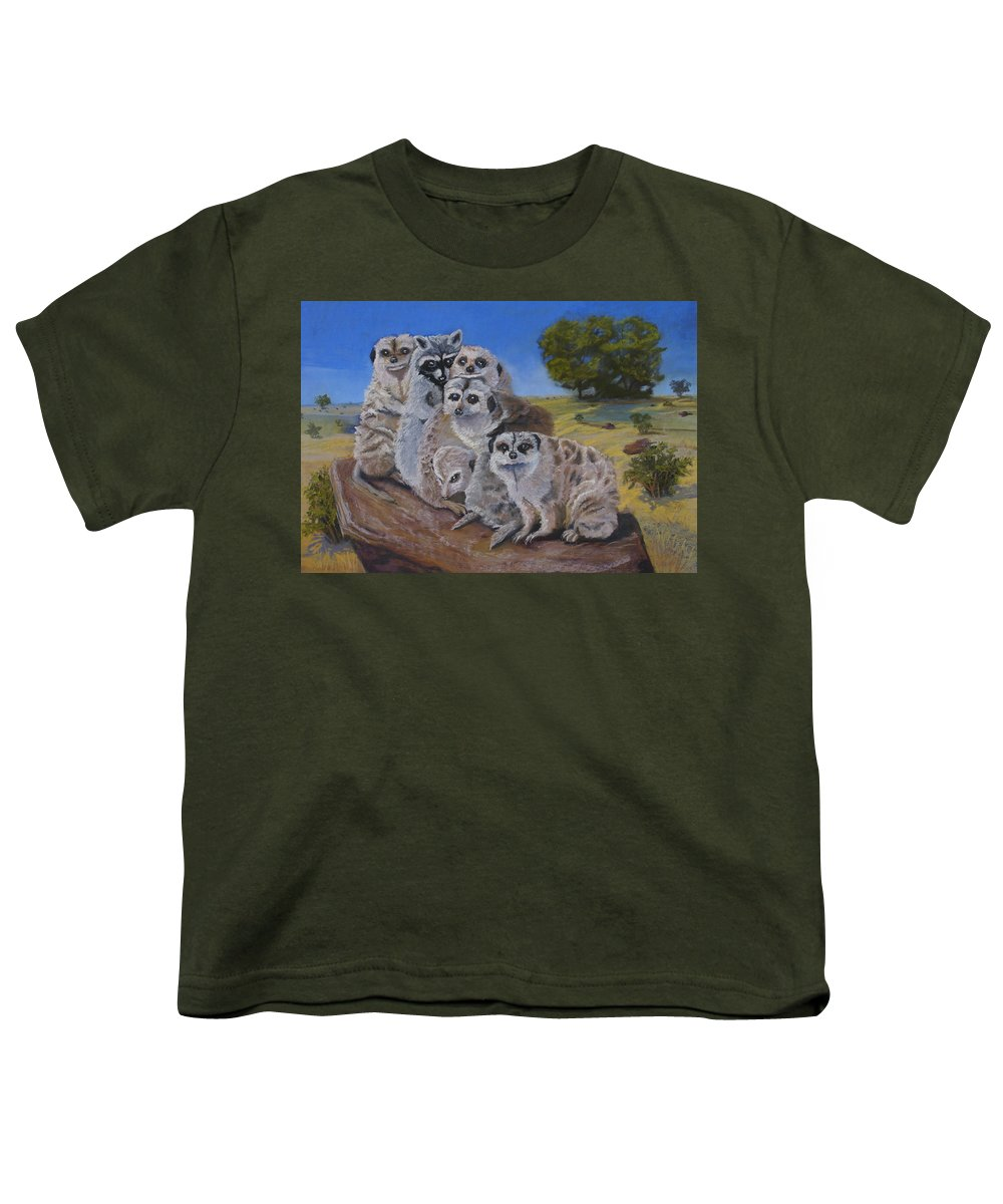 Meer Cat Youth T-Shirt featuring the painting Stranger In A Strange Land by Heather Coen