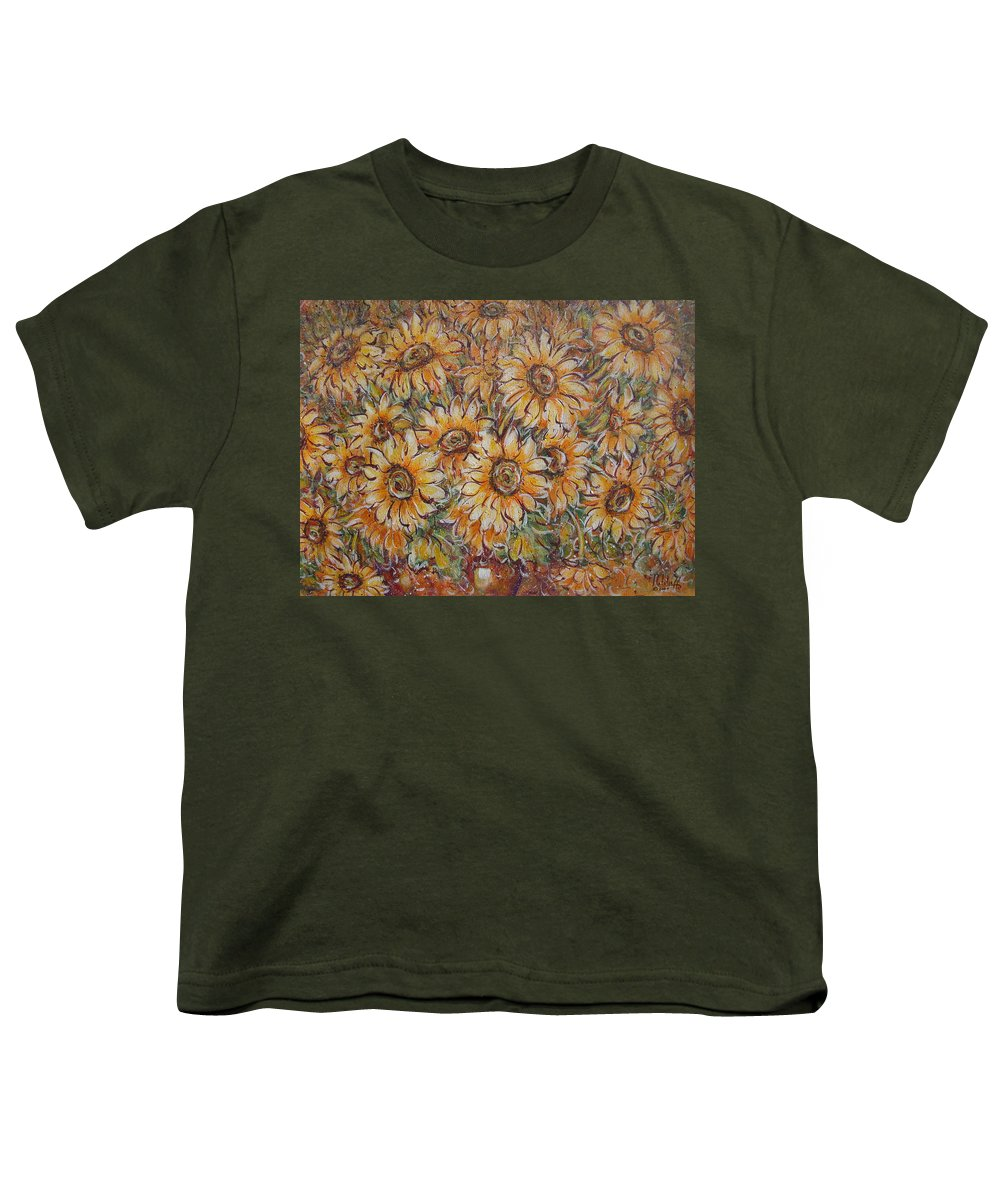Flowers Youth T-Shirt featuring the painting Sunlight Bouquet. by Natalie Holland