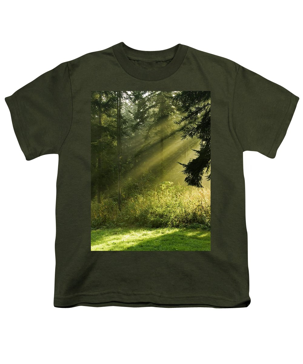 Nature Youth T-Shirt featuring the photograph Sunlight by Daniel Csoka