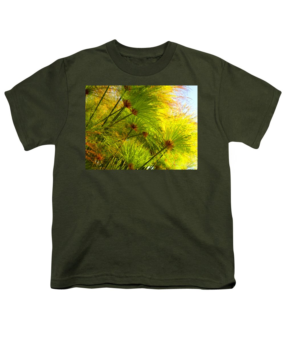 Landscape Youth T-Shirt featuring the painting Sunlit Paparus by Amy Vangsgard