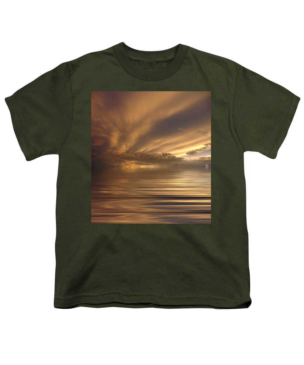 Sunset Youth T-Shirt featuring the photograph Sunset At Sea by Jerry McElroy