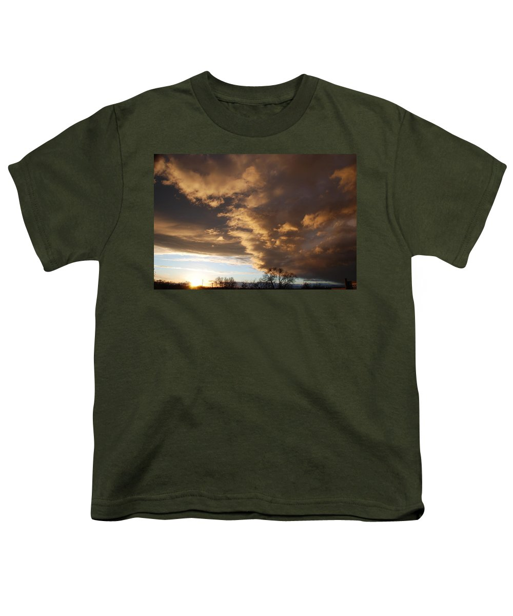 Sunset Youth T-Shirt featuring the photograph Sunset At The New Mexico State Capital by Rob Hans