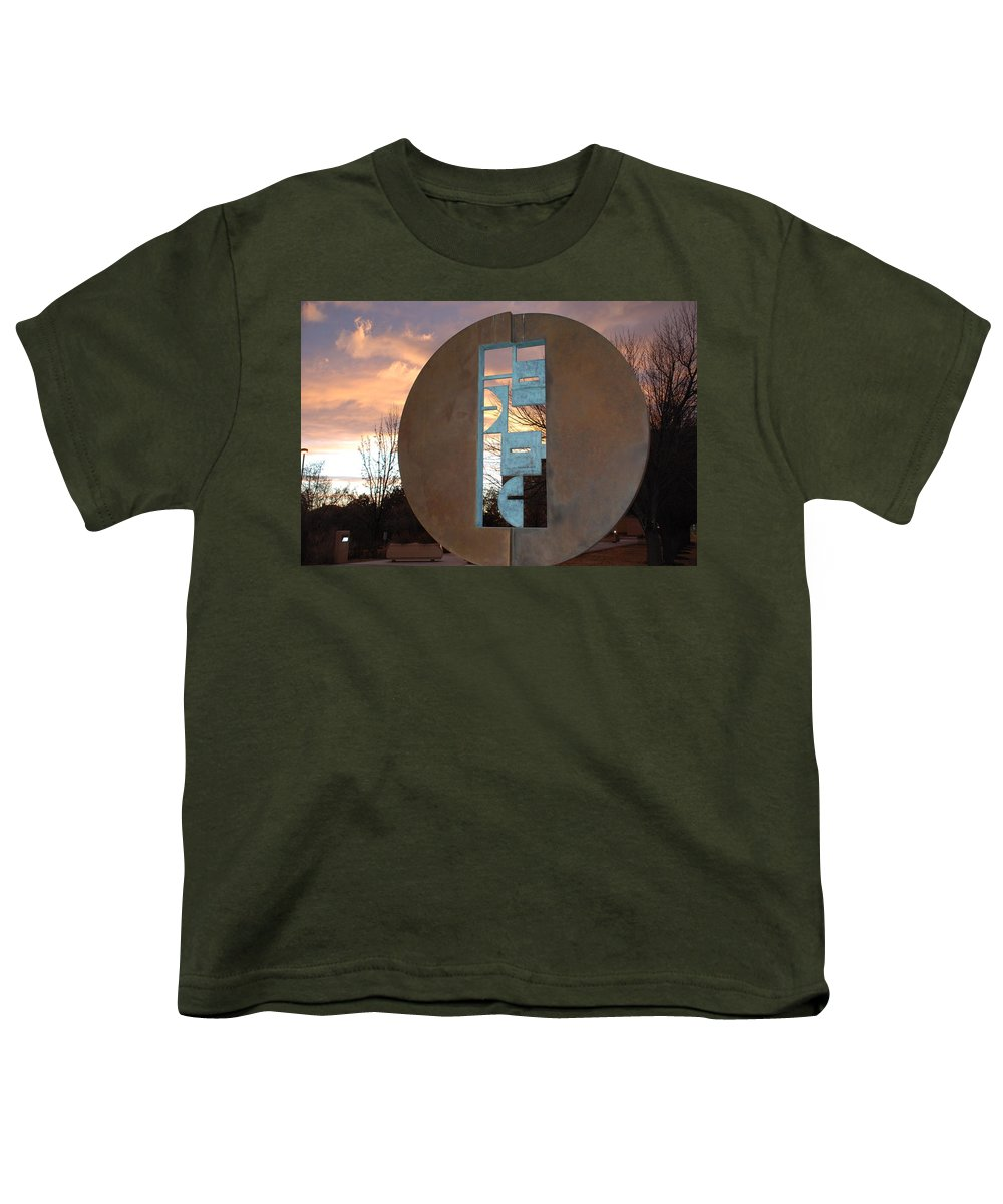 Pop Art Youth T-Shirt featuring the photograph Sunset Thru Art by Rob Hans