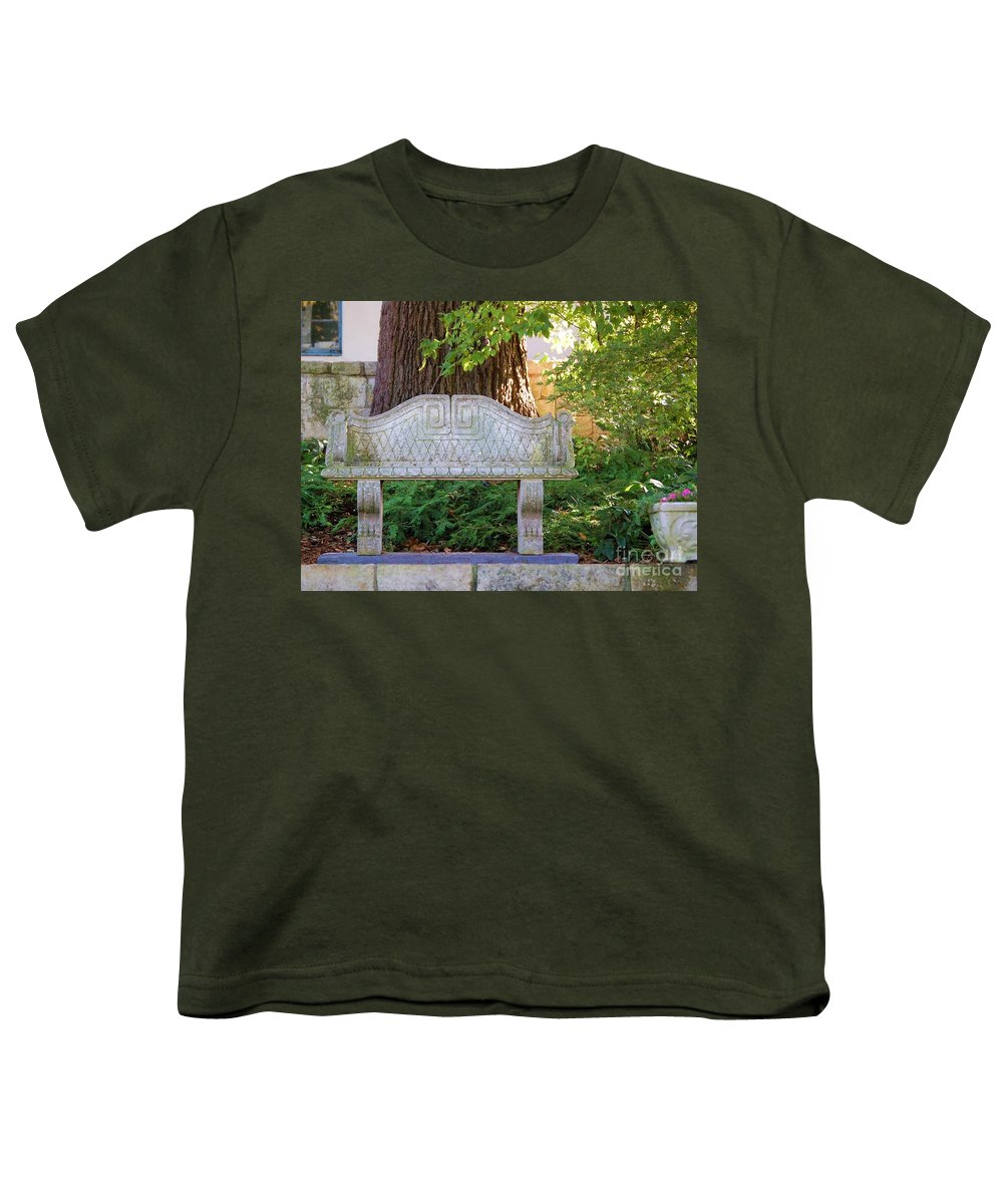 Bench Youth T-Shirt featuring the photograph Take A Break by Debbi Granruth