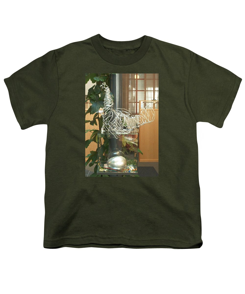 Youth T-Shirt featuring the sculpture Techno Hen by Jarle Rosseland