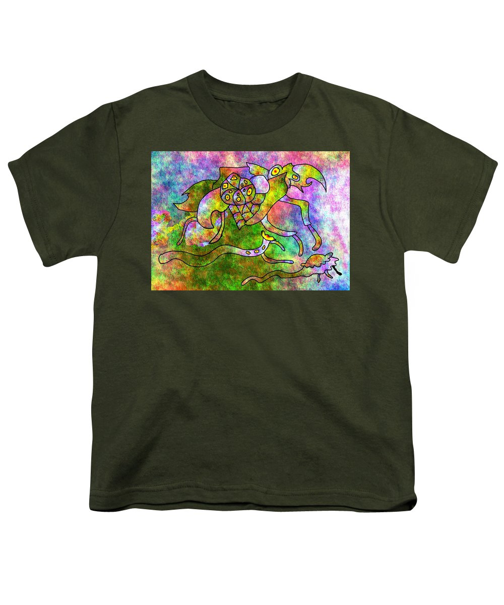 Bugs Color Texture Abstract Fun Youth T-Shirt featuring the digital art The Bugs by Veronica Jackson