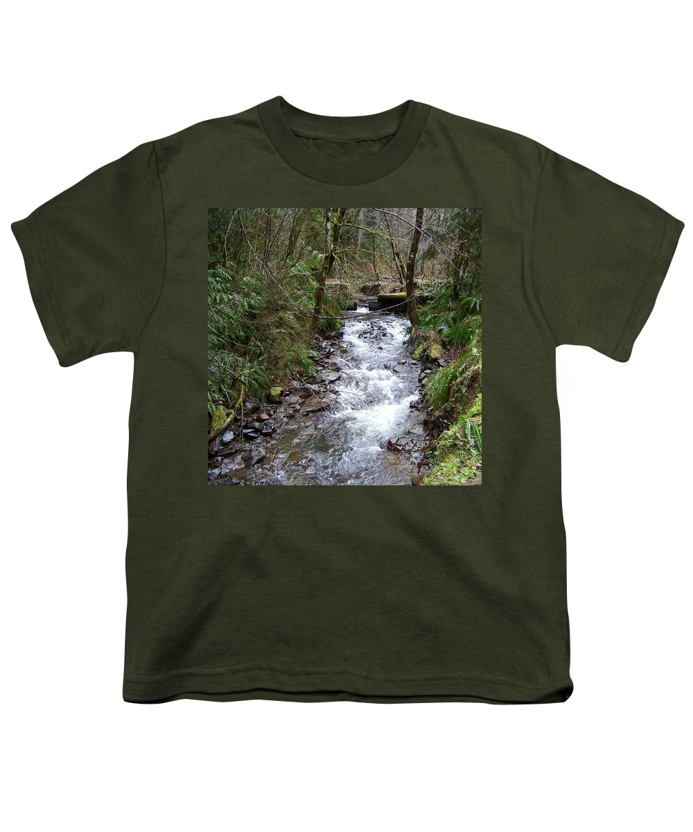 Digital Photography Youth T-Shirt featuring the photograph The Creek by Laurie Kidd