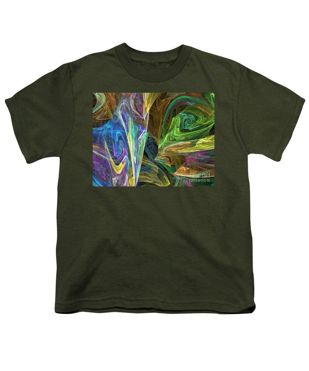 Fractals Youth T-Shirt featuring the digital art The Groove by Richard Rizzo