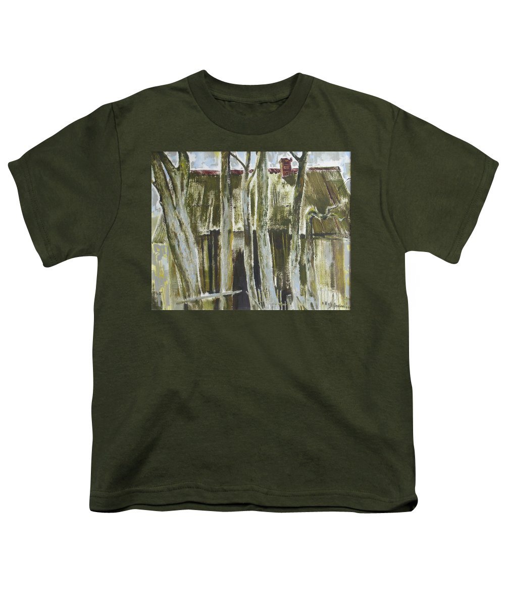 Oil Youth T-Shirt featuring the painting The Past Space by Sergey Ignatenko