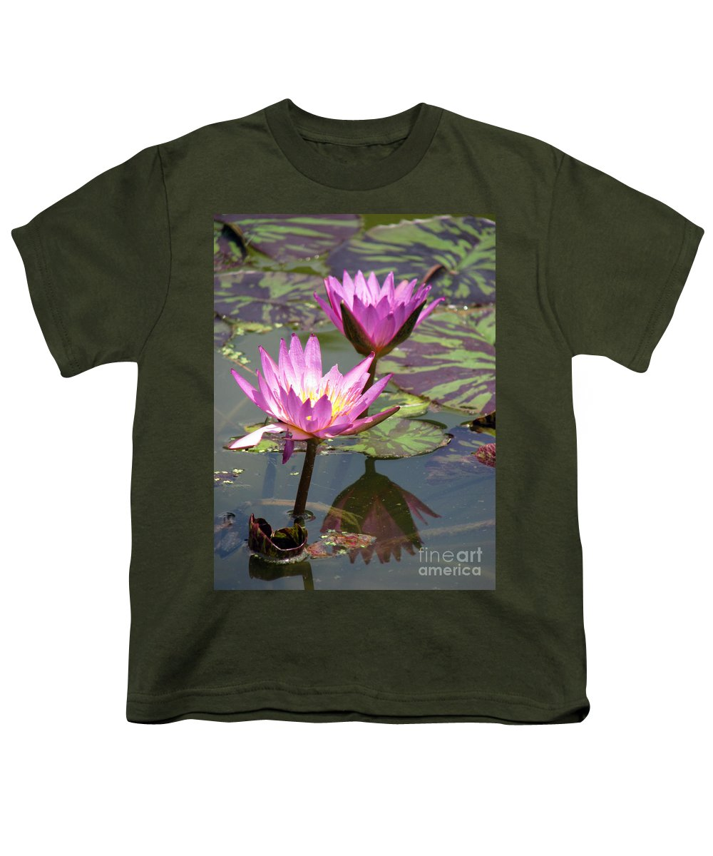 Lillypad Youth T-Shirt featuring the photograph The Pond by Amanda Barcon
