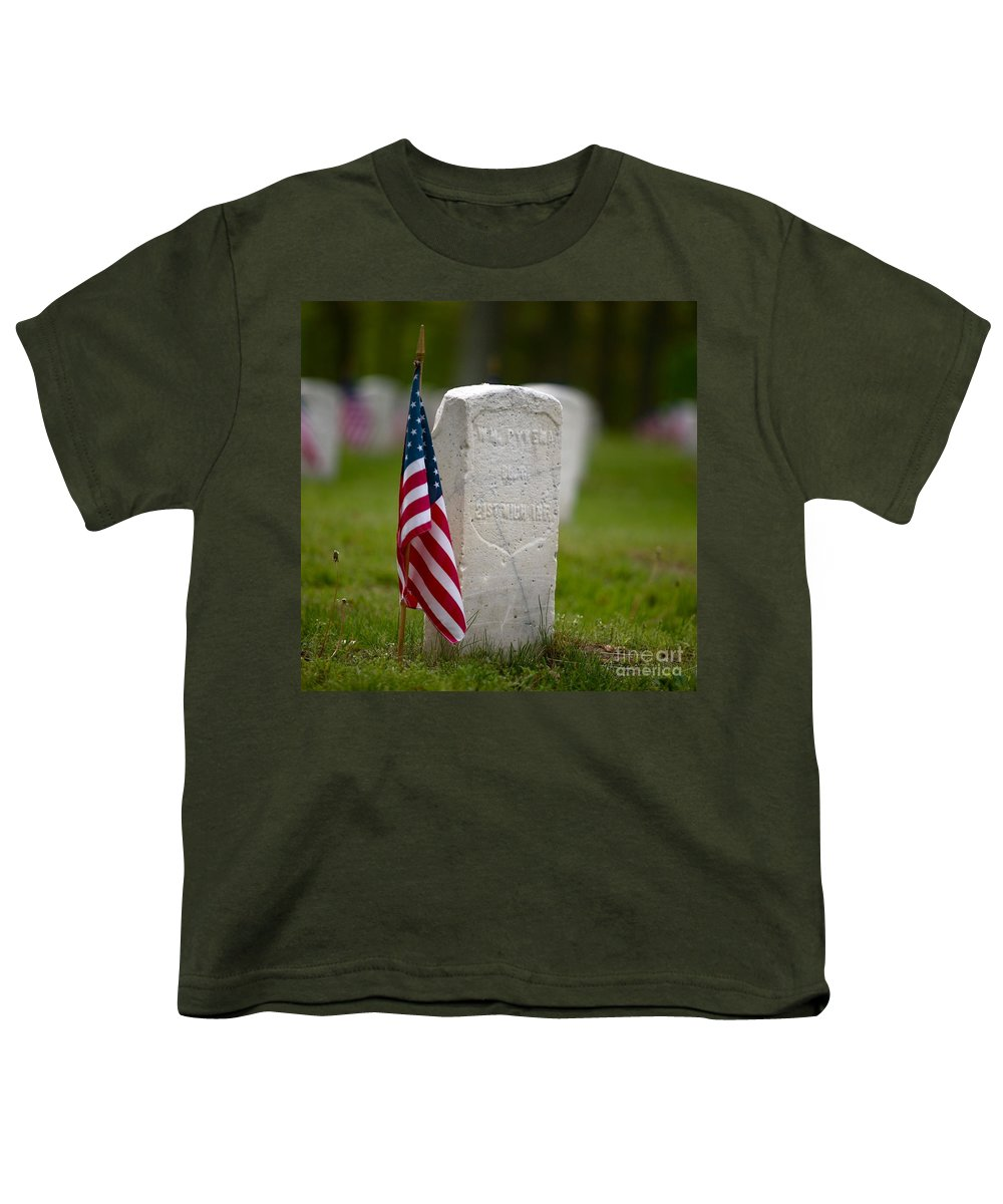 Grave Youth T-Shirt featuring the photograph The Price Of Freedom by Robert Pearson