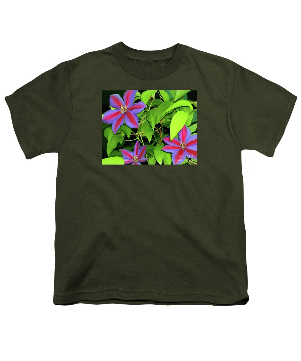 Mixed Media Art Youth T-Shirt featuring the painting Three Jacks by Patricia Griffin Brett
