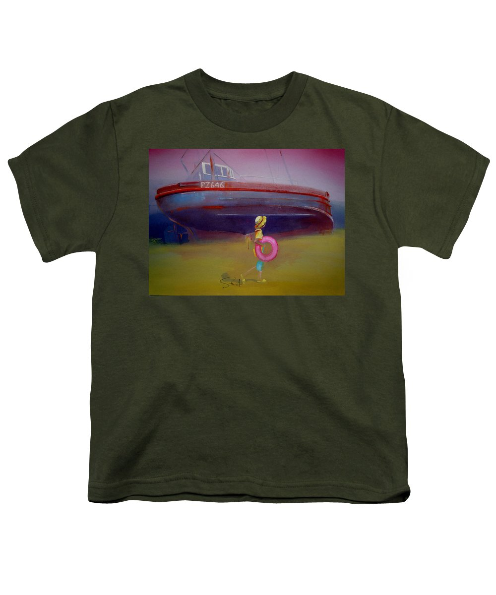 Penzance Youth T-Shirt featuring the painting To The Lighthouse by Charles Stuart
