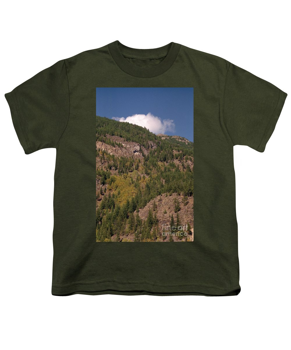 Mountains Youth T-Shirt featuring the photograph Touching The Clouds by Richard Rizzo