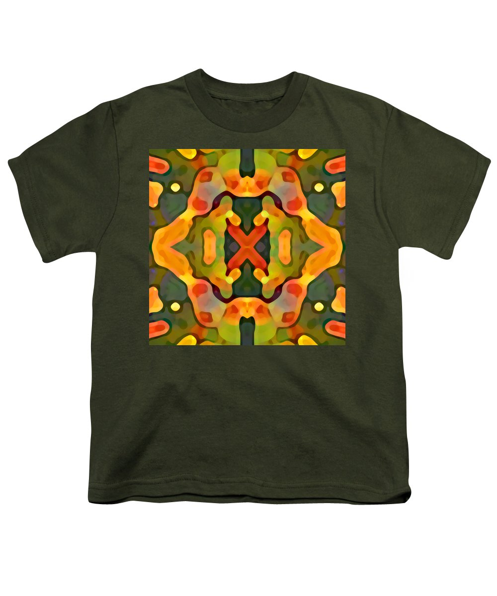 Abstract Youth T-Shirt featuring the painting Treasure by Amy Vangsgard