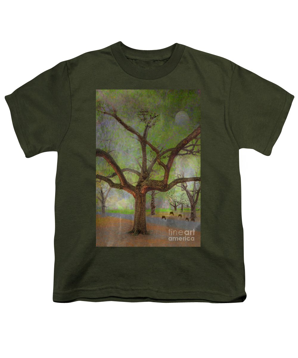 Travel Youth T-Shirt featuring the photograph Under The Live Oak by Larry Braun