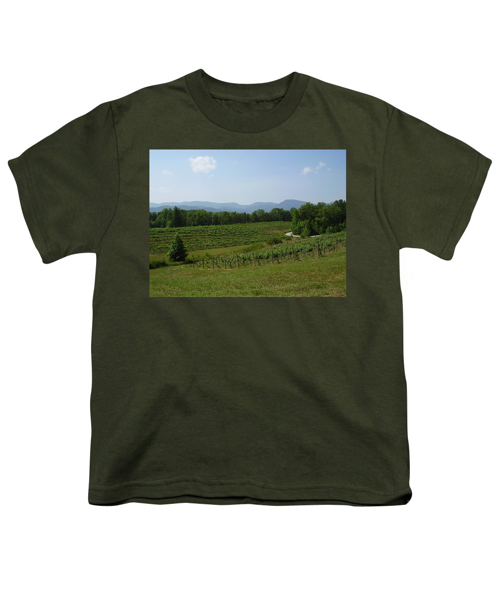 Vineyard Youth T-Shirt featuring the photograph Vineyard by Flavia Westerwelle
