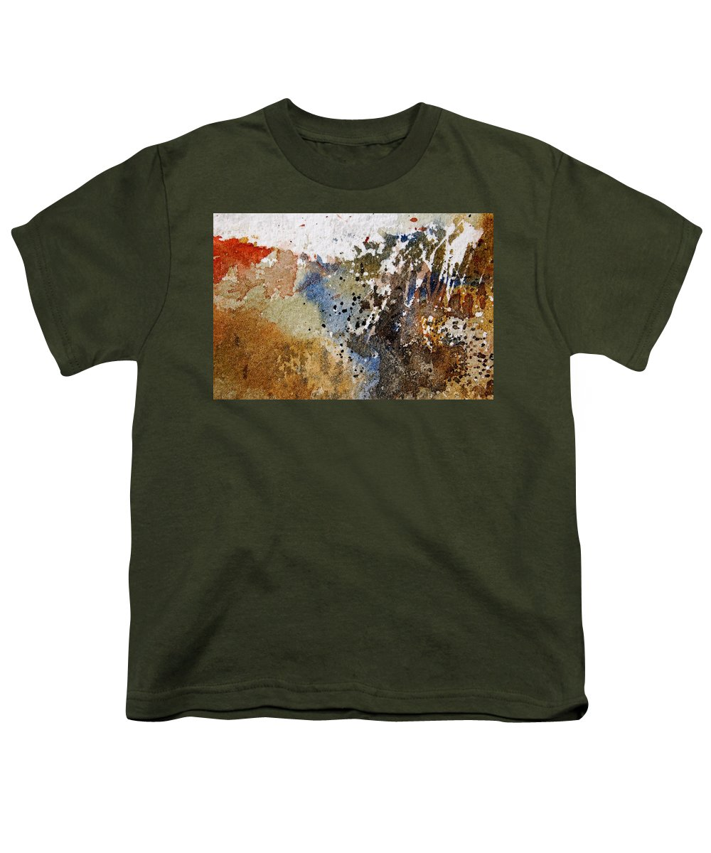 Abstract Youth T-Shirt featuring the painting Watercolor 9050223 by Pol Ledent