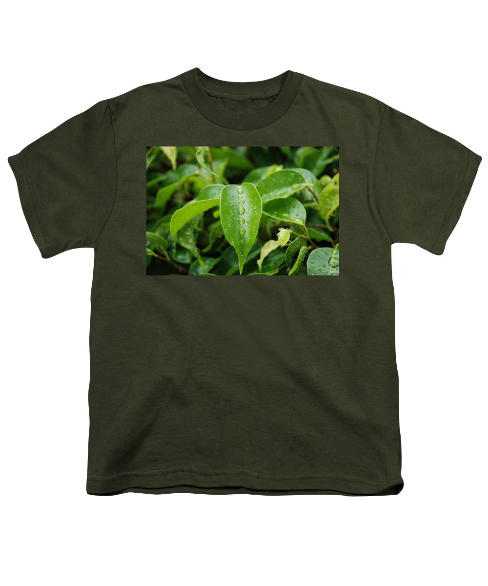 Macro Youth T-Shirt featuring the photograph Wet Bushes by Rob Hans