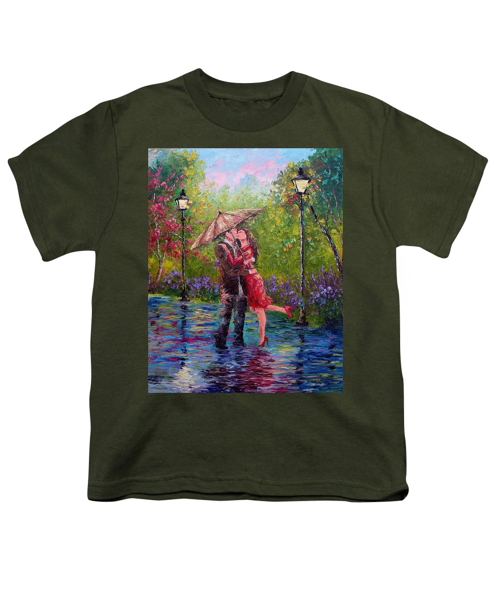 Kiss Youth T-Shirt featuring the painting Wet Kiss by David G Paul