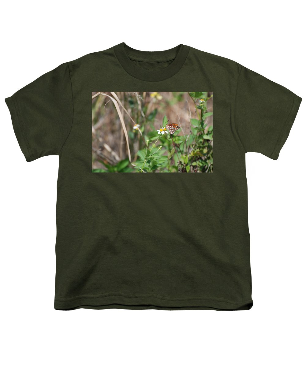 Butterfly Youth T-Shirt featuring the photograph White Butterfly by Rob Hans