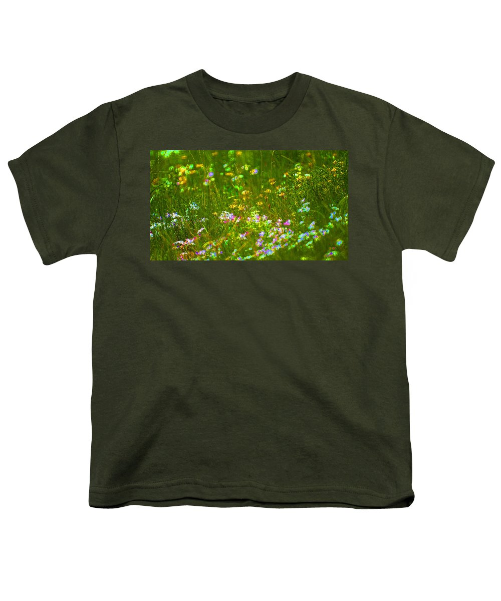 Wildflower Youth T-Shirt featuring the photograph Wildflower Field by Heather Coen