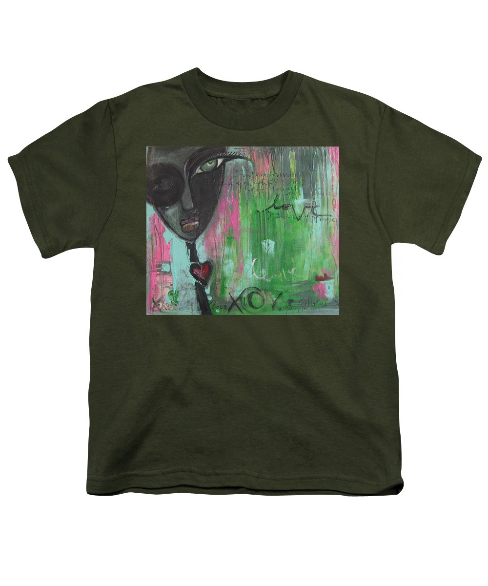 Figurative Youth T-Shirt featuring the painting You Cant Ask For More by Laurie Maves ART