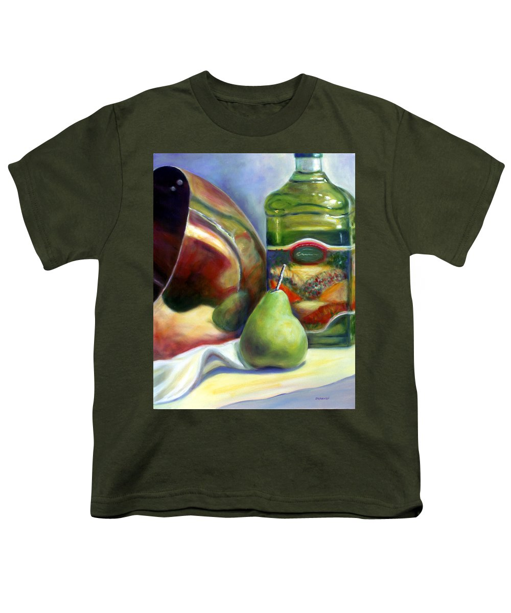 Copper Vessel Youth T-Shirt featuring the painting Zabaglione Pan by Shannon Grissom