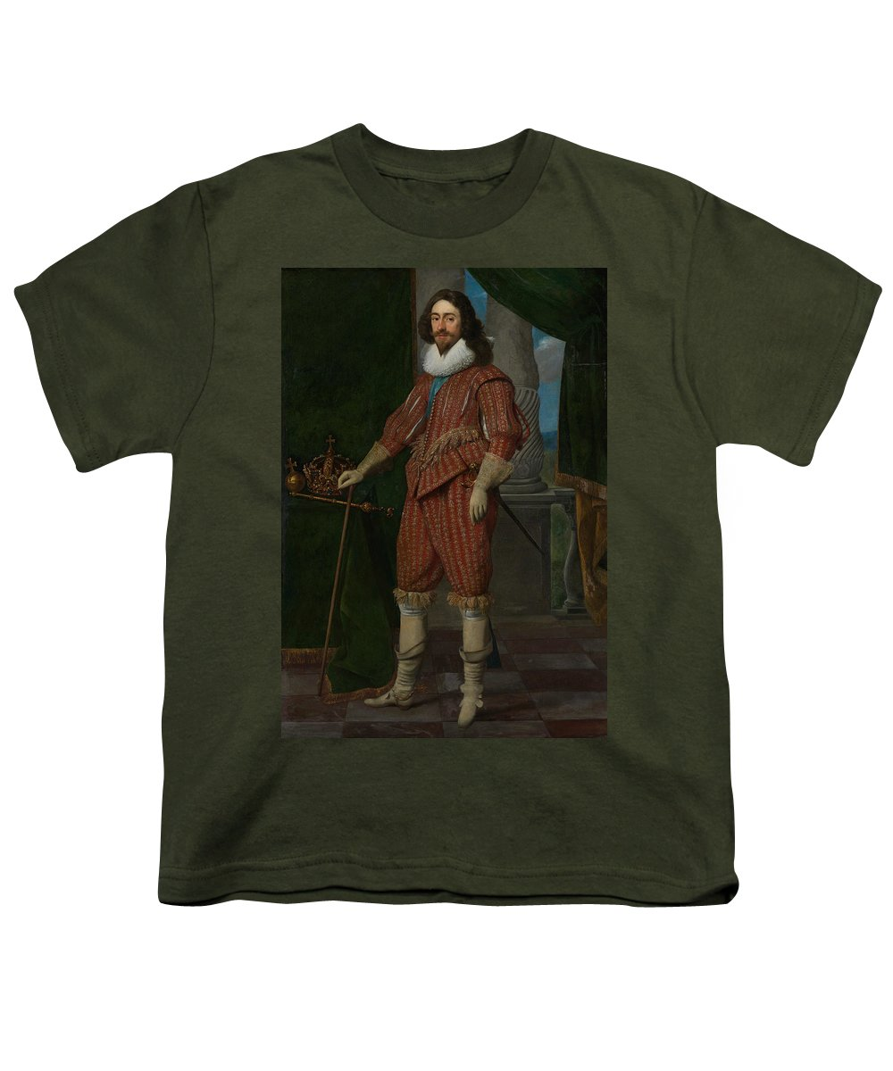 17th Century Art Youth T-Shirt featuring the painting Charles I, King Of England by Daniel Mijtens