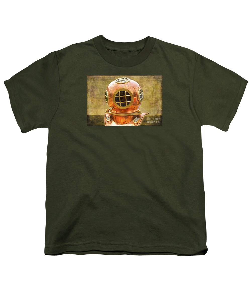 Vintage Youth T-Shirt featuring the photograph Vintage Diving Helmet by Nina Silver