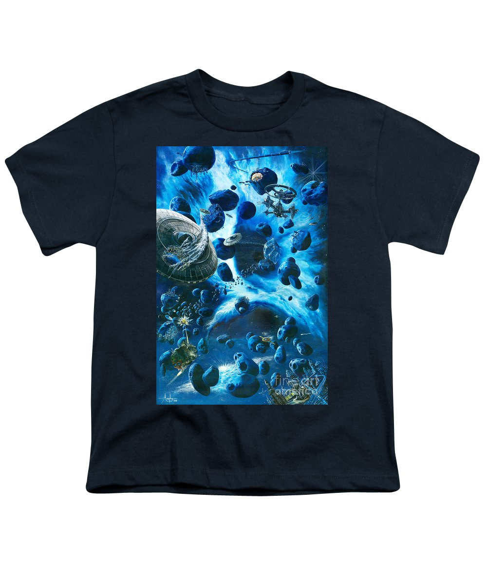 Asteroid Youth T-Shirt featuring the painting Alien Pirates by Murphy Elliott