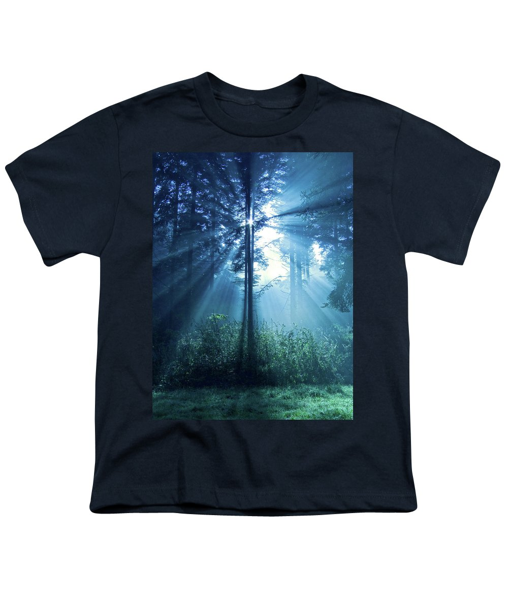 Nature Youth T-Shirt featuring the photograph Magical Light by Daniel Csoka