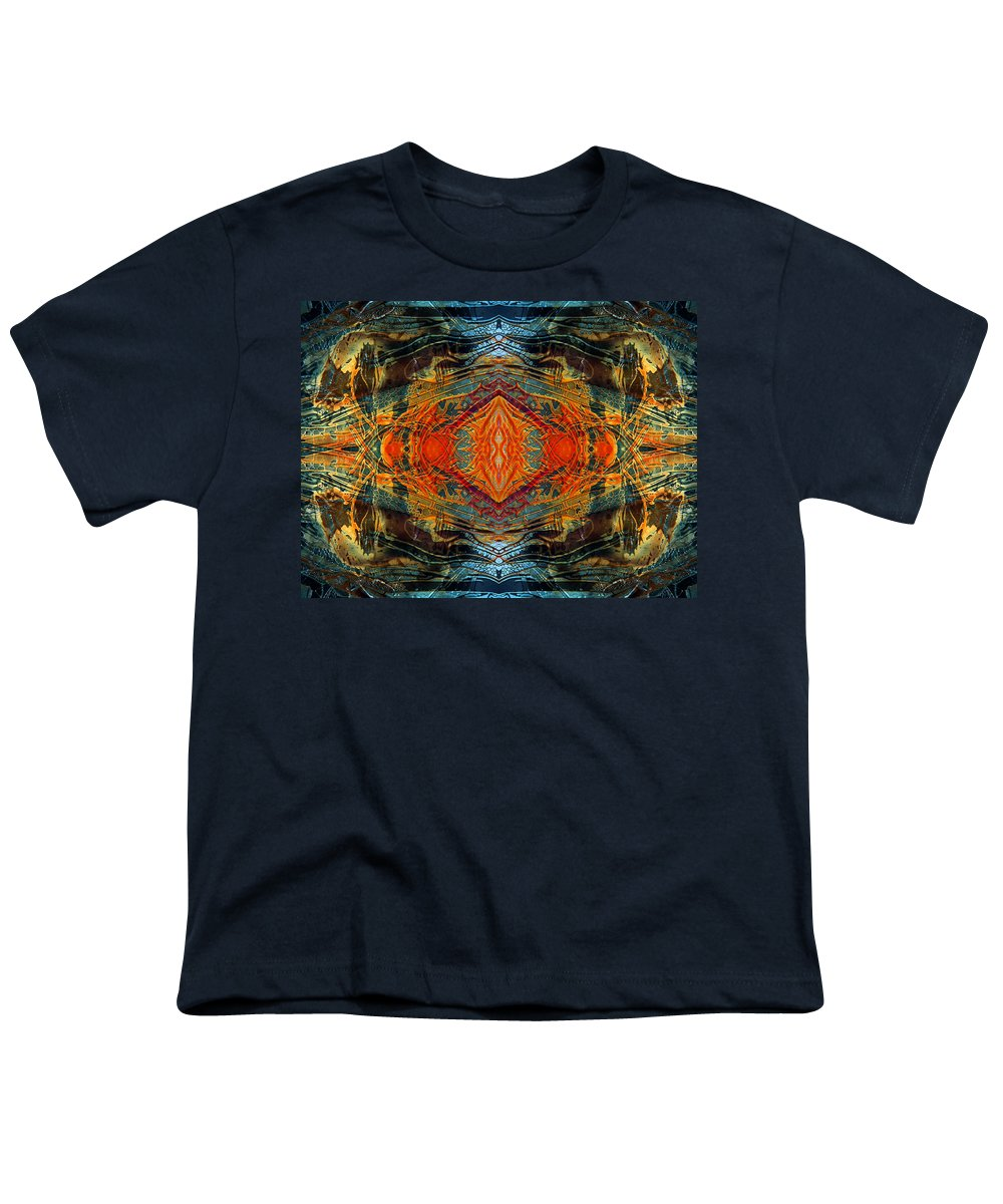 Surrealism Youth T-Shirt featuring the digital art Decalcomaniac Intersection 2 by Otto Rapp