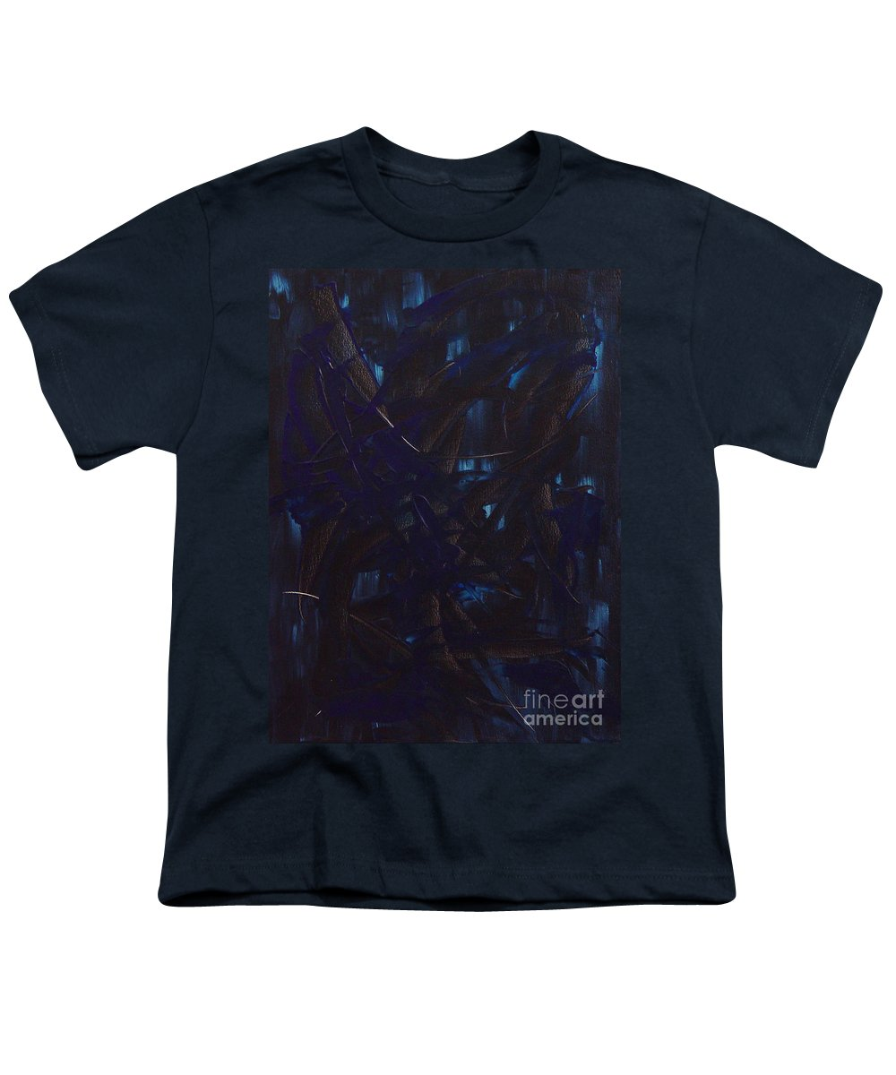 Abstract Youth T-Shirt featuring the painting Expectations Blue by Dean Triolo